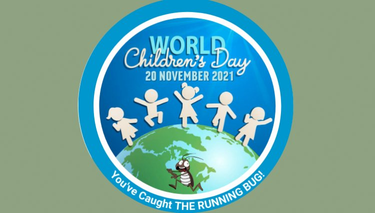 The Running Bug, THE RUNNING BUG - World Children's Day - online entry by EventEntry