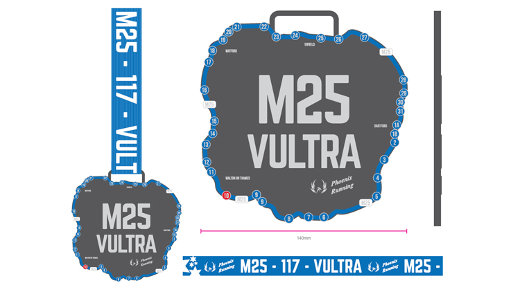 Phoenix Running Ltd, PHOENIX - Virtual M25 Vultra - online entry by EventEntry