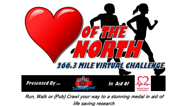 Virtual challenge event. Heart of the North Virtual Challenge from Fit2The Core Training Systems Ltd. Online entry, virtual maps and results service - EventEntry