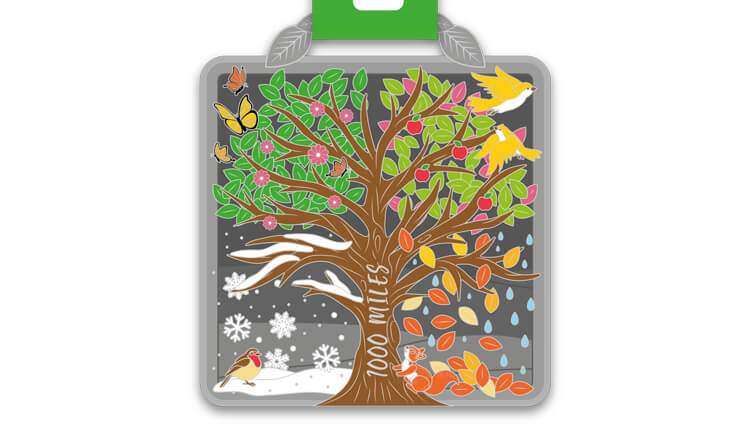 My Virtual Medal, My Virtual Medal - A Thousand Miles - online entry by EventEntry