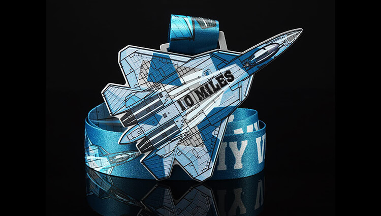 My Virtual Medal, My Virtual Medal - Fighter Jet - online entry by EventEntry