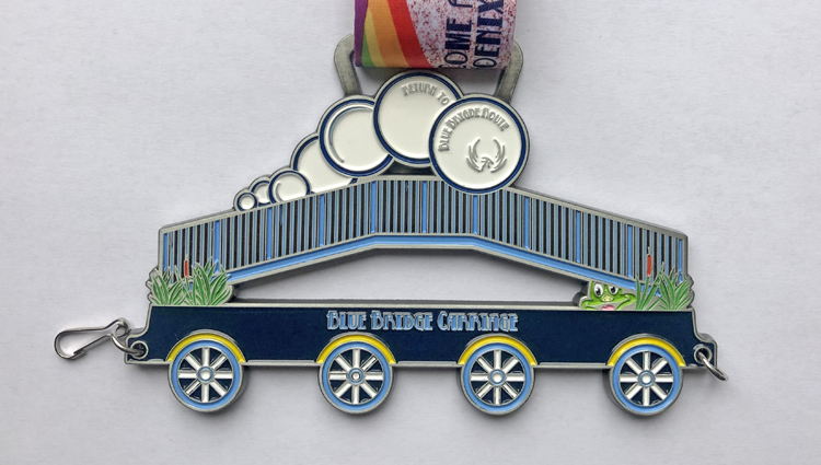 Phoenix Running Ltd, PHOENIX - VIRTUAL - Phoenix Party Train Blue Bridge Carriage - online entry by EventEntry
