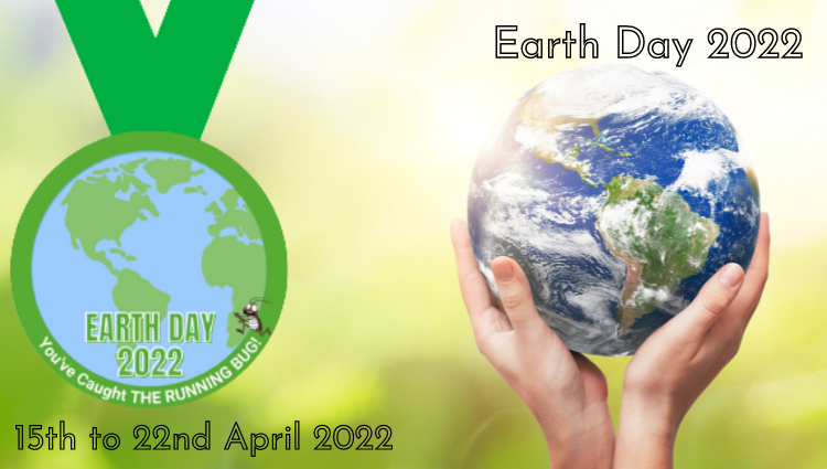 The Running Bug, THE RUNNING BUG - Earth Day 2022 Virtual Challenge - online entry by EventEntry