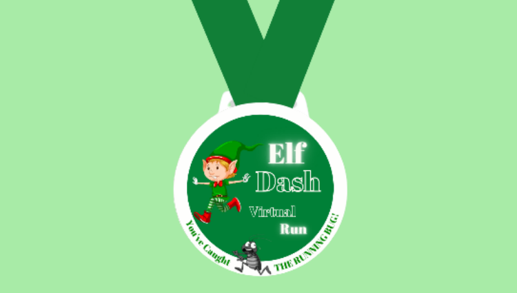 The Running Bug, THE RUNNING BUG - Elf Dash Virtual Challenge - online entry by EventEntry