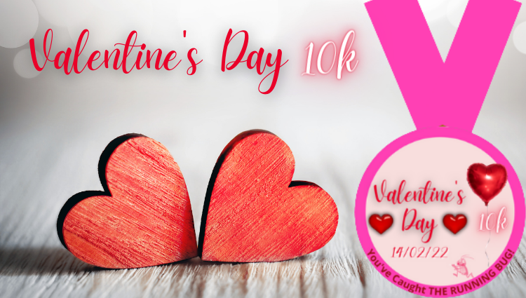 The Running Bug, THE RUNNING BUG - Valentine's Day 10k Virtual Challenge 2022 - online entry by EventEntry