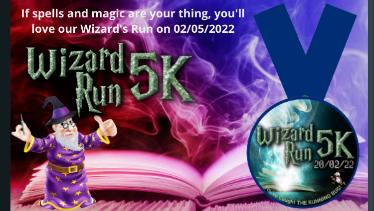 The Running Bug, THE RUNNING BUG - Wizard 5k Run Virtual Challenge 2022 - online entry by EventEntry