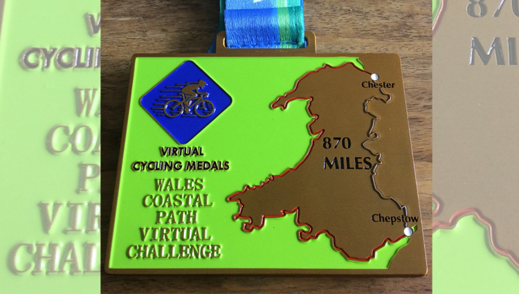 Virtual Challenge Medals, VCM - Wales Coastal Path Challenge - online entry by EventEntry
