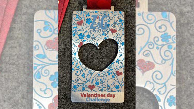 Zig Zag Running, ZigZag - Valentines Day Challenge - online entry by EventEntry